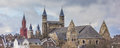 Panorama of church towers in maastricht the netherlands Stock Photo