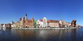 Panorama of City of Gdansk (Danzig), Poland Stock Photography