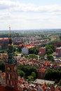 Panorama city gdańsk of the northern polish Royalty Free Stock Images