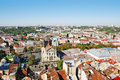 Panorama of a city of Lvov Royalty Free Stock Photography
