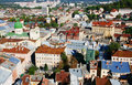 Panorama of a city of Lvov Stock Image