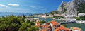 Panorama of city Omis ,Croatia Stock Photos