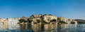 Panorama of city palace udaipur india luxury tourism concept background from lake pichola Stock Photo