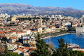 Panorama of city Split in Dalmatia Royalty Free Stock Image