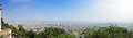 Panorama cityscape of kathmandu nepal look at on swayambhunath temple or monkey temple nepali newar is the capital and Stock Image