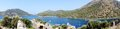 Panorama of coastline landscape of mediterranean sea turkey Royalty Free Stock Images