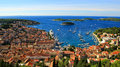 Panorama of Coatsal City Hvar in Croatia Royalty Free Stock Photo