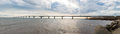 Panorama of Confederation Bridge Royalty Free Stock Photo