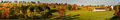 Panorama of Connecticut farm in the Fall Royalty Free Stock Photo