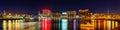 Panorama of Creek district in Dubai Royalty Free Stock Photo