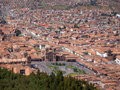 Panorama of Cusco, the city in southeastern Peru, South America Royalty Free Stock Photo