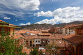 Panorama of cusco city Royalty Free Stock Photo