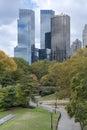 Panorama d horizon de new york city manhattan vu du pair central Photographie stock