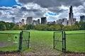 Panorama d horizon de new york city manhattan vu du pair central Photo libre de droits