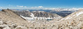 Panorama da cimeira de mount whitney caro vista da serra nevada do pico o mais alto de califórnia Foto de Stock Royalty Free