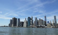 Panorama da skyline do lower manhattan Imagem de Stock Royalty Free