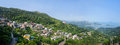 Panorama of the day scene town scenery in jiufen taiwan march Stock Photos