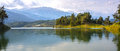 Panorama de lac mountain Photographie stock