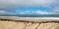 Panorama of  Deep Water  Ocean beach Royalty Free Stock Photo