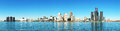 Panorama of the Detroit, Michigan Skyline Royalty Free Stock Photo