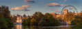 Panorama di westminster come visto dalla st james park Fotografie Stock Libere da Diritti