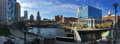 Panorama of downtown Providence, Rhode Island Royalty Free Stock Photo