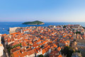Panorama of Dubrovnik in Croatia Royalty Free Stock Photos