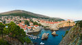 Panorama of dubrovnik croatia architecture background Royalty Free Stock Photo