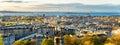 Panorama of Edinburgh from Calton Hill Royalty Free Stock Photo