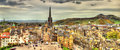 Panorama of Edinburgh from the castle Royalty Free Stock Photo