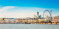 Panorama Of Embankment In Helsinki At Summer Sunset Evening, Sun Royalty Free Stock Photo