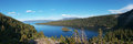 Panorama emerald bay lake tahoe california Stock Afbeeldingen