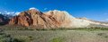 Panorama of eroded rocks in kekemeren valley tien shan kyrgyzstan Royalty Free Stock Photo