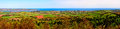 Panorama of the exe estuary and surrounding countryside river viewed from haldon hill in south devon england Royalty Free Stock Photography