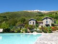 Panorama of the farm holidays tre terre pianello del lario lake como italy Stock Images