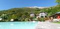 Panorama of the farm holidays tre terre pianello del lario lake como italy Royalty Free Stock Photography