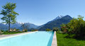 Panorama of the farm holidays tre terre pianello del lario lake como italy Stock Photo