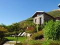 Panorama of the farm holidays tre terre pianello del lario lake como italy Royalty Free Stock Image