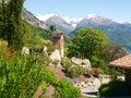 Panorama of the farm holidays tre terre pianello del lario lake como italy Stock Photo