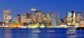 Panorama financier de district de Boston Image stock