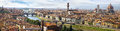 Panorama of the firenze italy view includes basilica di santa maria del fiore and bridges Stock Photography
