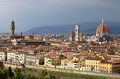 Panorama of florence landscape view italy Royalty Free Stock Images