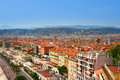 Panorama of French riviera in city of Nice Royalty Free Stock Image