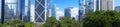 Panorama of futuristic city Hong Kong Royalty Free Stock Photo