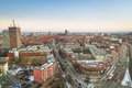 Panorama of gdansk city centre in winter time on october is a polish on the baltic coast one the main seaport and center tri Royalty Free Stock Image