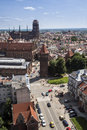 Panorama of gdansk city in tricy pomerania poland Stock Image