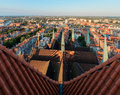 Panorama of the Gdansk old city from St. Mary's Church Royalty Free Stock Photo