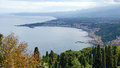 Panorama of Giardini-Naxos Royalty Free Stock Photo