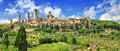 Panorama Gimignano, Tuscany. Italy Royalty Free Stock Photo