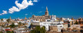 Panorama of Giralda and Seville Cathedral, Spain Royalty Free Stock Photo